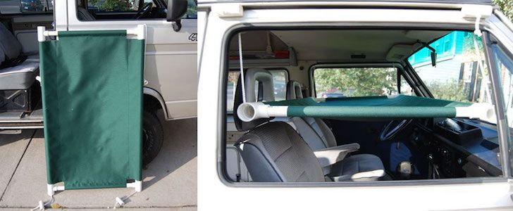 Ingenious Hanging Cot Idea To Add Sleep Space To Your Car Truck