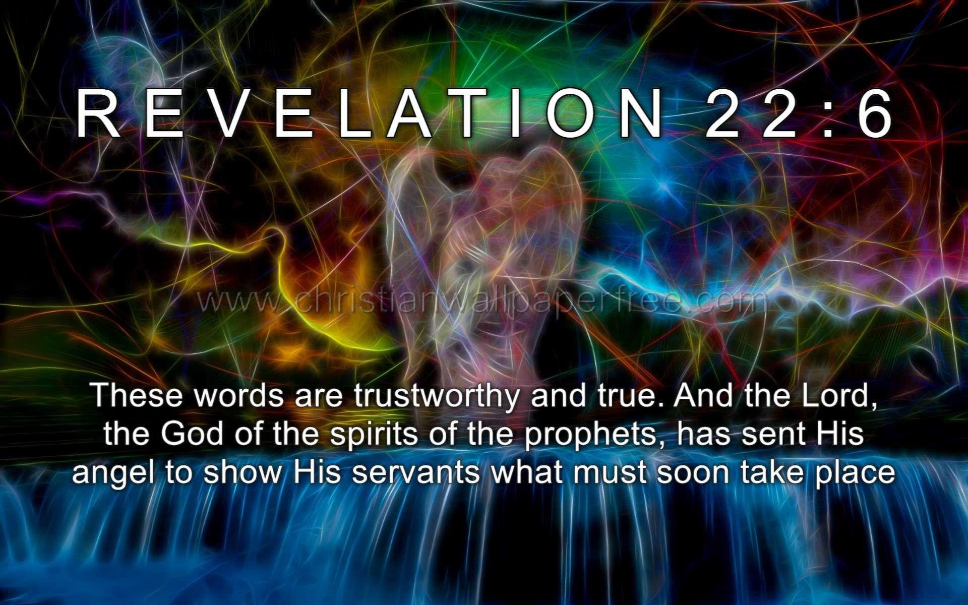 Revelation 22 Verse 6 | Imagenes y pensamientos cristianos