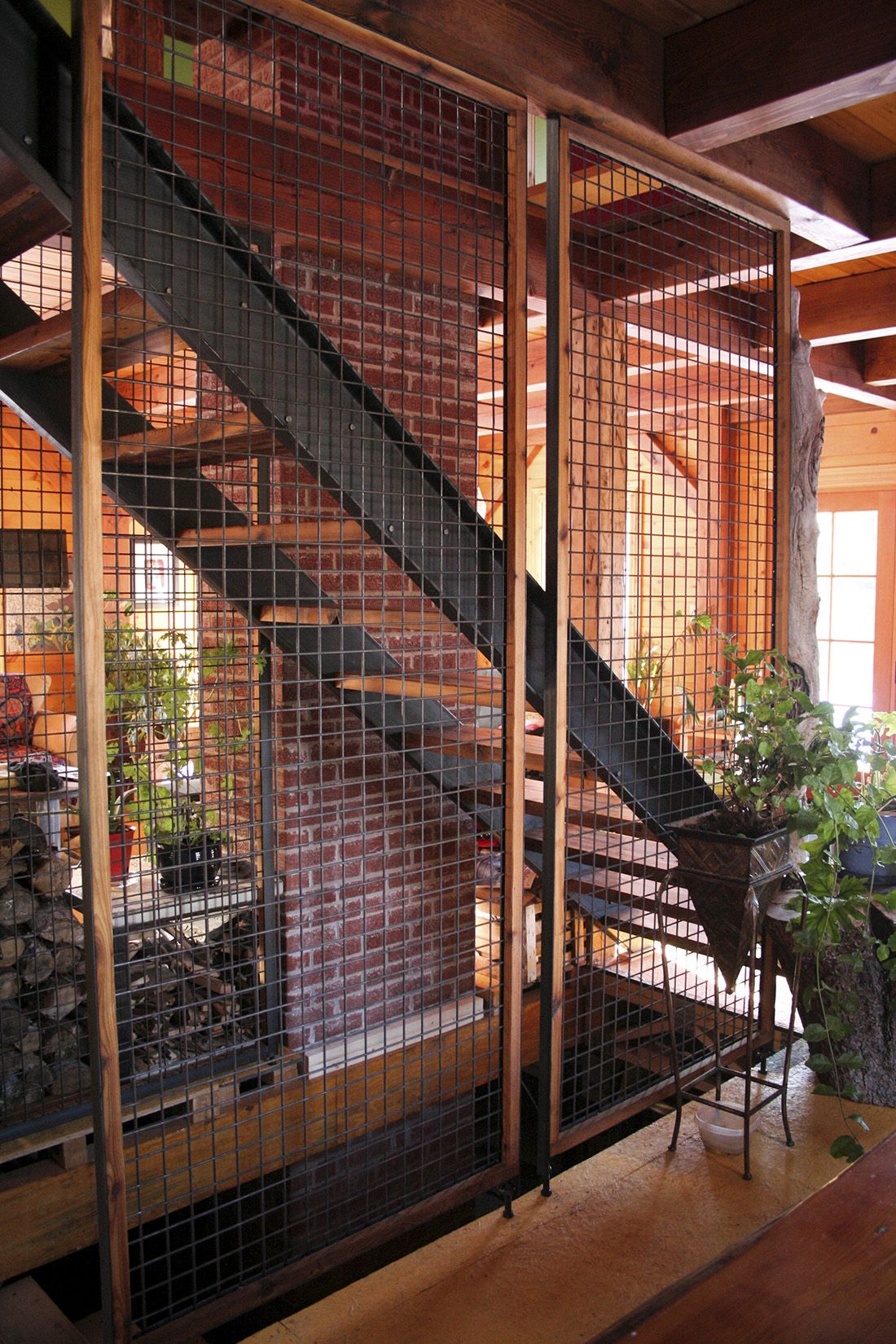 Escalier Bois De Grange Et Metal Grillage Stairs In 2018