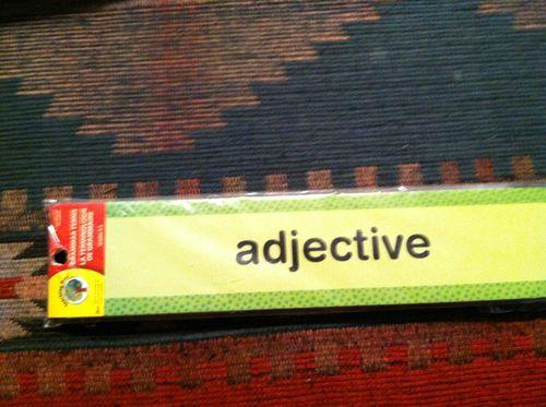 Grammar Terms Educational Word Strips for Teachers Daycares Homeschoolers   eBay
