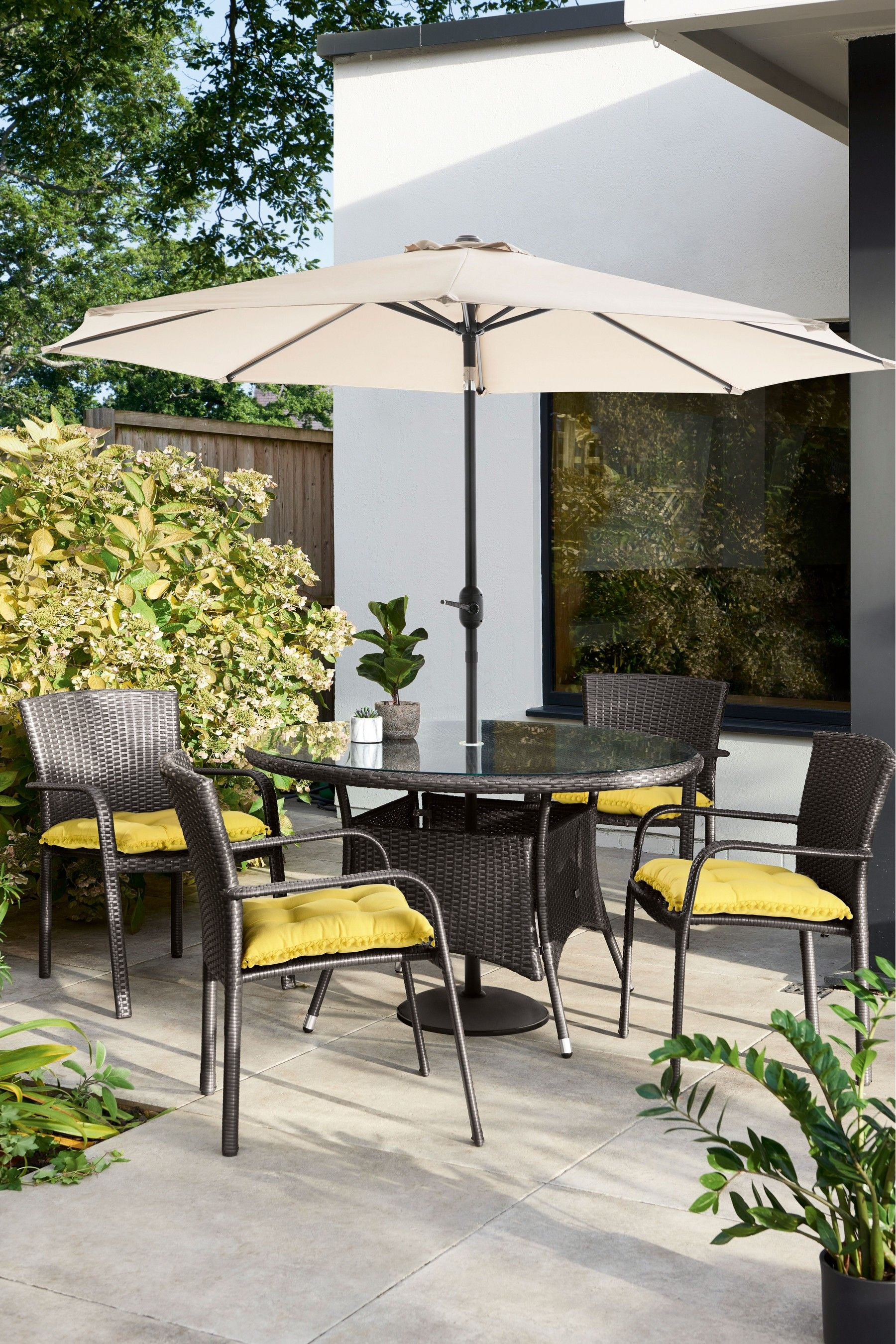 Monaco Parasol By Leisuregrow In 2020 Adjustable Height Table