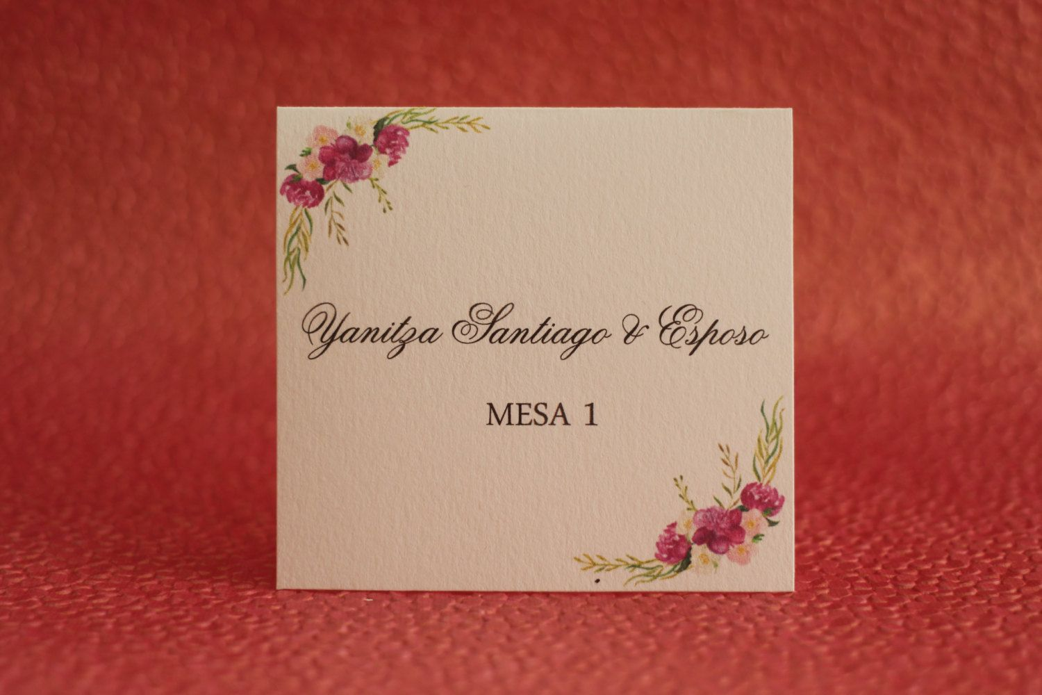 Floral Escort Cards by AnnInvite on Etsy https://www.etsy.com ...