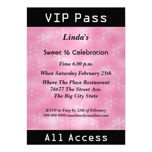 Download VIP Birthday Party Invitations Ideas Download this - free vip pass template