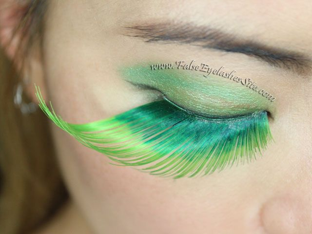 Giant Green False Eyelashes For St Patricks Day Elegant Lashes