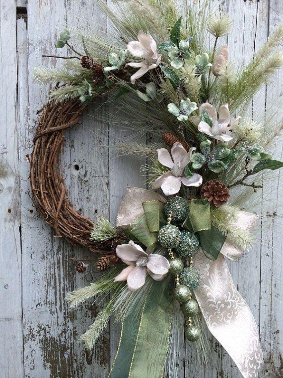 Victorian Christmas Wreath, Elegant Christmas Wreath ...