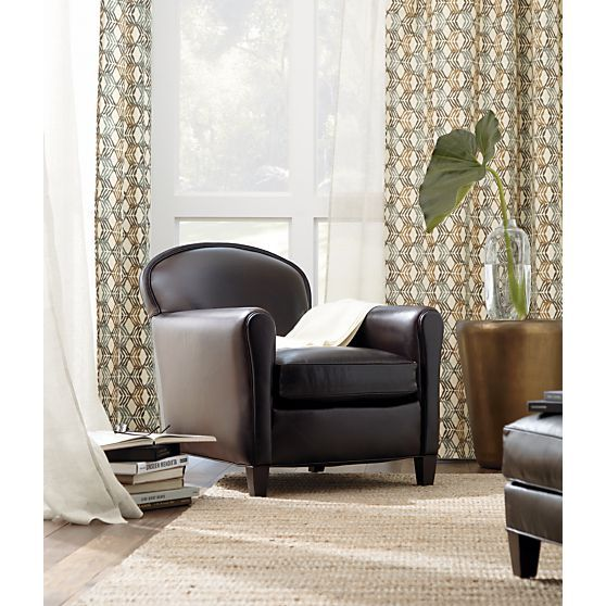 eiffel leather chair bolero accent table tegan curtain panel i crate and barrel living rooms. Black Bedroom Furniture Sets. Home Design Ideas