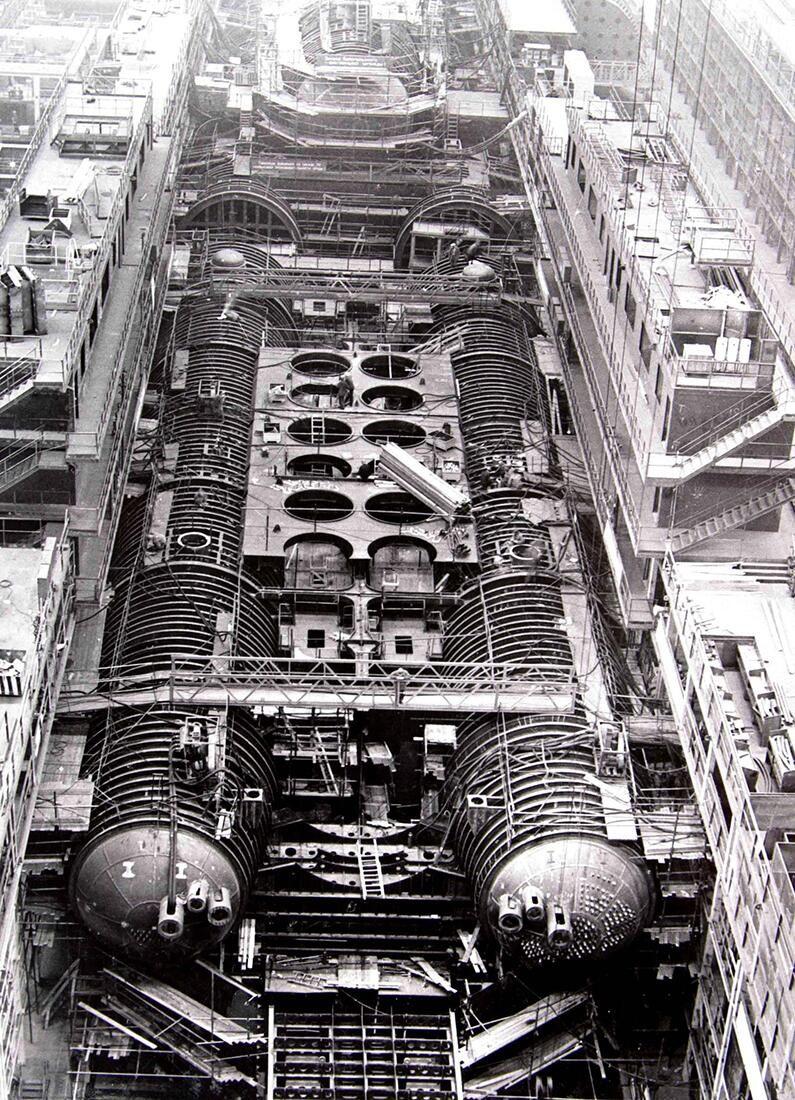 Typhoon Class Submarine Dmitriy Donskoy Under Construction