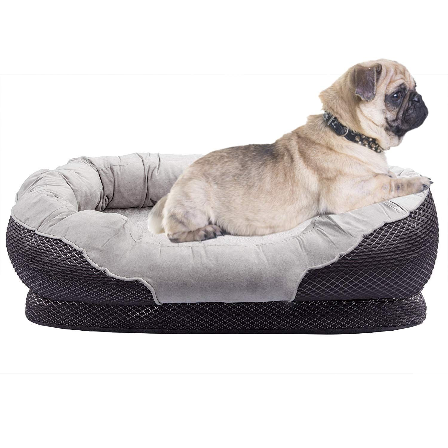 Asfrost Dog Beds With Padded Rim Cushion And Nonslip Bottom See This Great Product It Is An Affiliate Link Orthopedic Dog Bed Puppy Beds Dog Bed Furniture Pet bed with removable cover