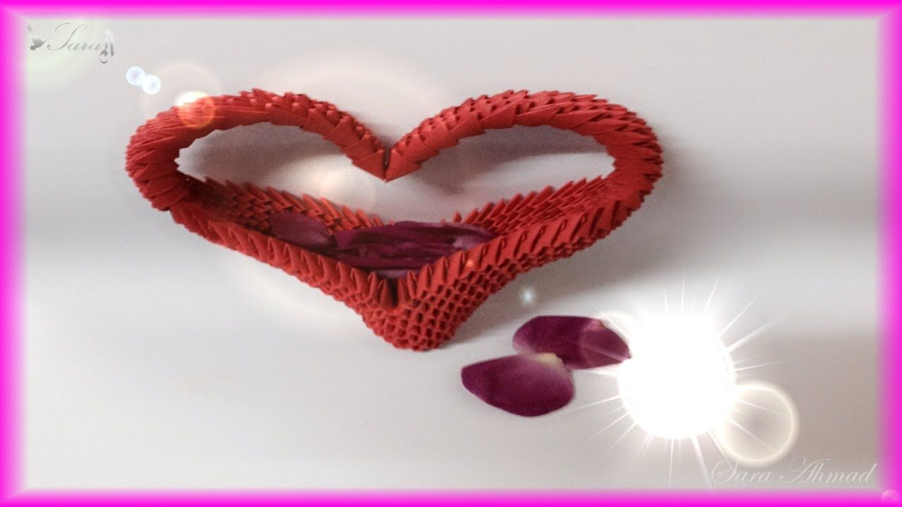 How to make 3d origami heart 3d origami pinterest 3d origami how to make 3d origami heart jeuxipadfo Gallery