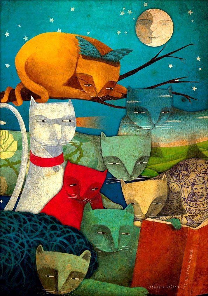 "=^..^= Carlos C. Lainez: ""Meeting of Cats"" =^..^="