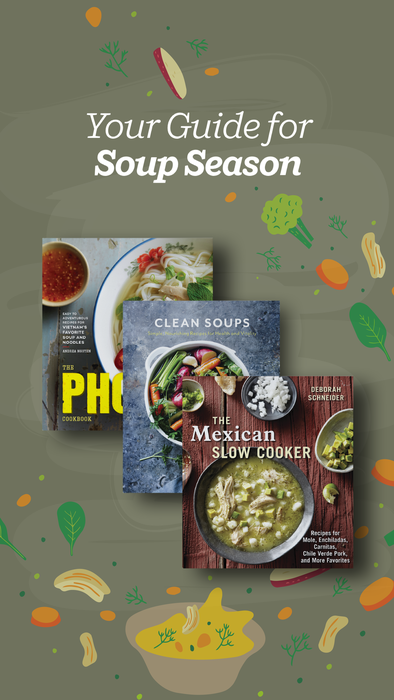Get ready for soup season with this collection of essential cookbooks. These cookbooks offer tried and true recipes for the best stews, soups, hot pot, chili, pho, and more, many of which you can make in your slow cooker or instant pot.