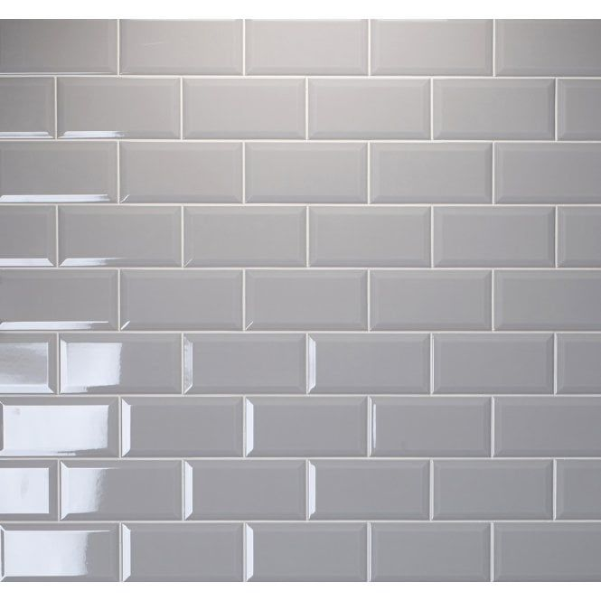 Metro Brick Gloss Grey Ash 10cm X 20cm Wall Tile Grey Kitchen Tiles Brick Tiles Bathroom Bathroom Wall Tile