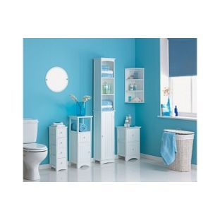 Home Tongue And Groove Tall Cabinet White At Argos Co Uk Unit Bathroombathroom