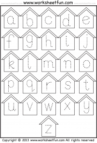 Small Letter Tracing – Lowercase – Worksheet – Birdhouse ...