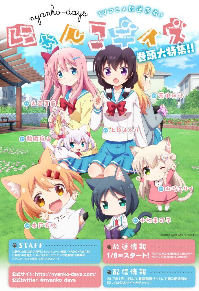 winter 2017 tv anime nyanko days anime kawaii anime anime episodes