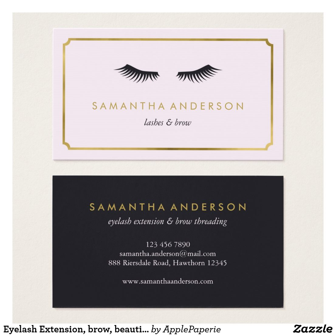 Eyelash extension brow beautician business cards business eyelash extension brow beautician business cards colourmoves