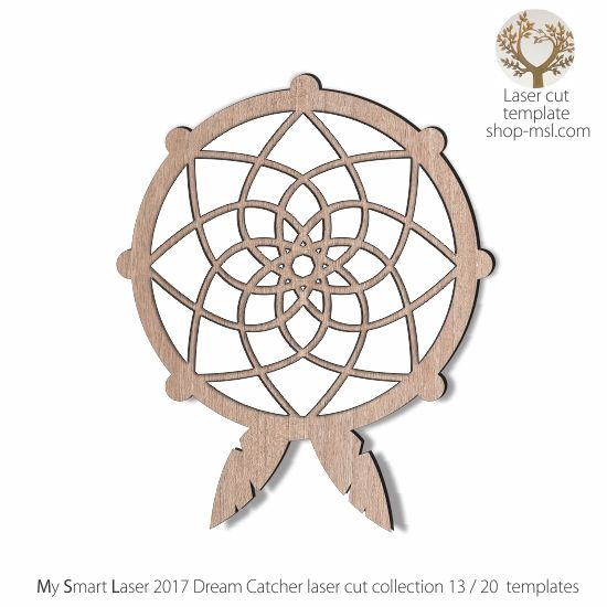 detailed dream catcher template for laser cutting 20 unique
