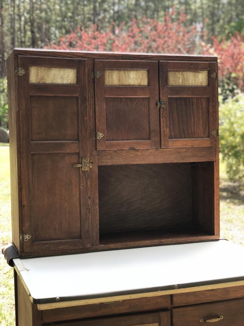 Vintage Hoosier Cabinet Wilson Kitchen Cabinets Wood Etsy In 2020 Hoosier Cabinet Wood Cabinets Cabinet
