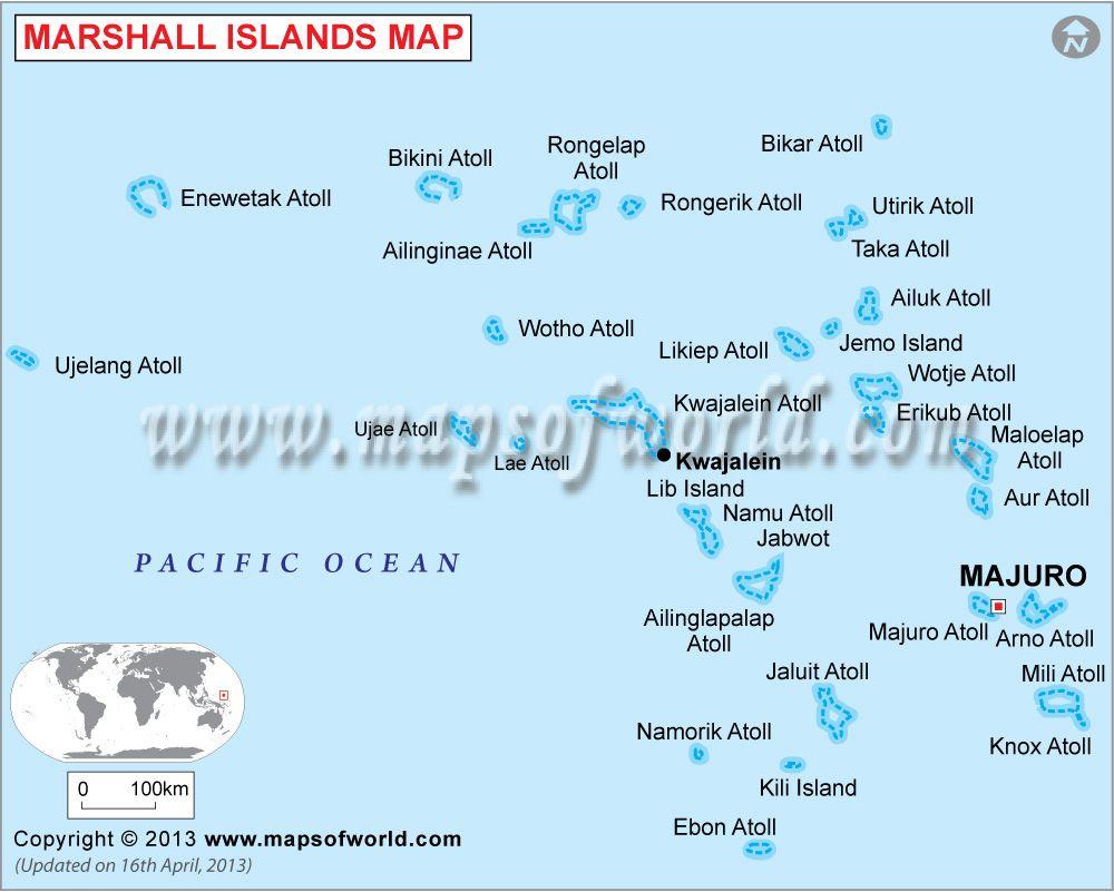 Marshall Islands Map   23 in 2019   Island map, Marshall ...