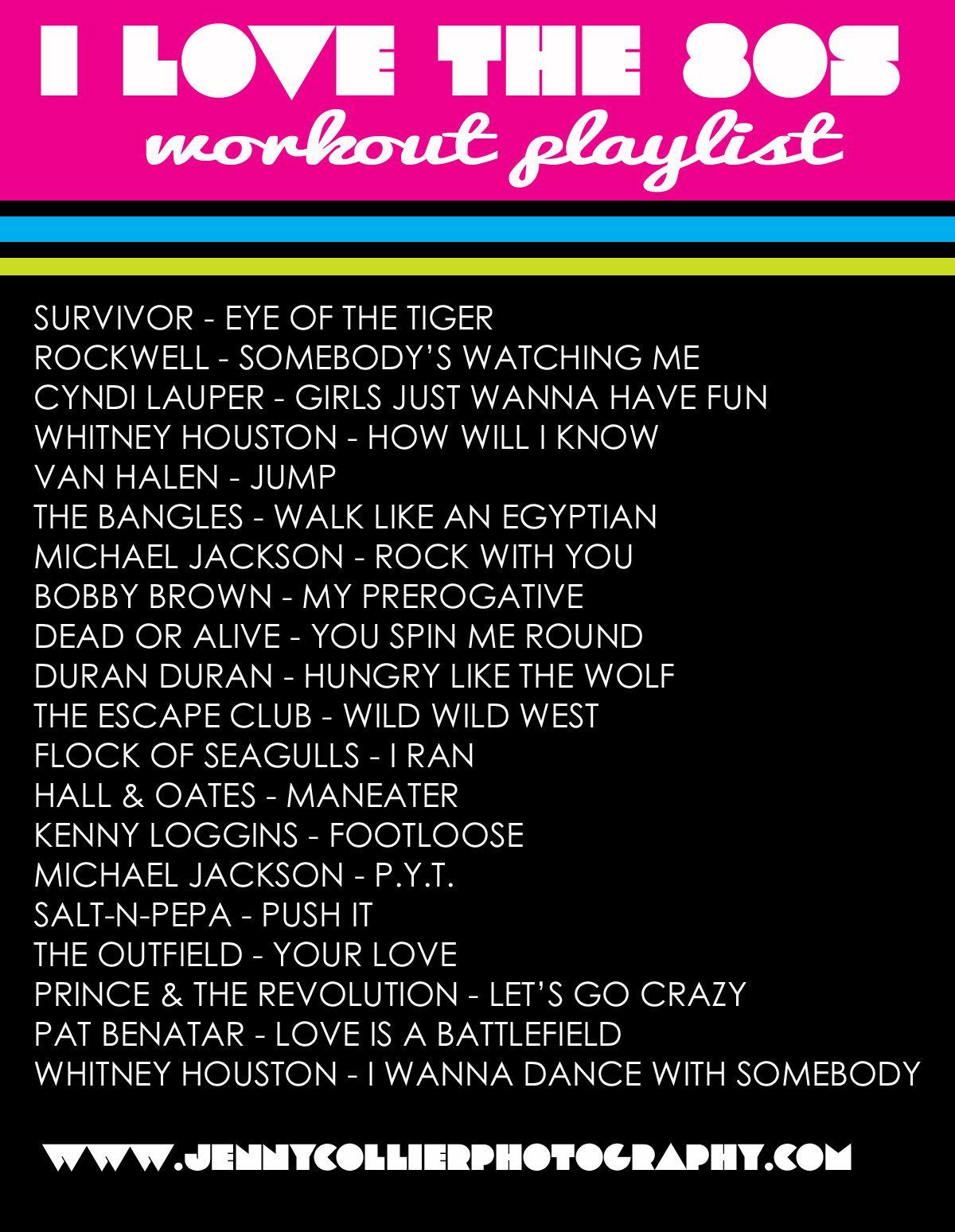 80's workout playlist 80s workout, Song playlist, Playlist