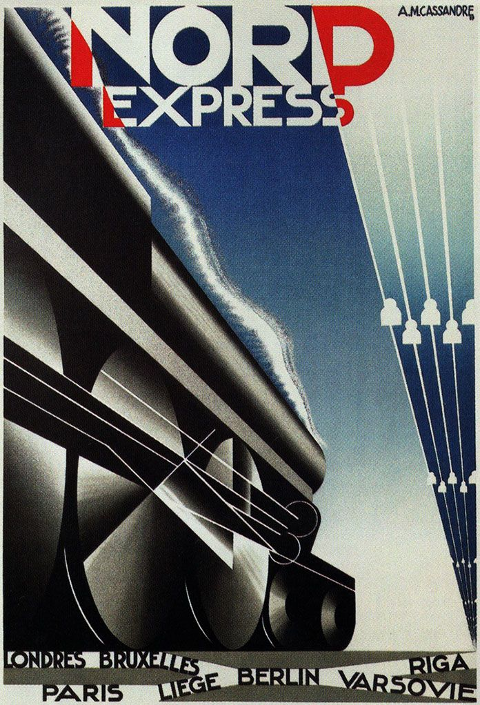 cassandre nord express affiche 1927 graficos pinterest art deco posters art y art deco. Black Bedroom Furniture Sets. Home Design Ideas