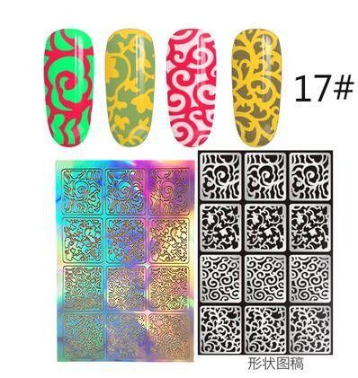 12 Tips/Sheet DIY Fashion Women Nail Vinyls Nail Art Manicure