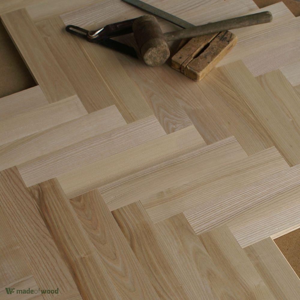 """Ash Wood 12"""" Parquet Classique Prime Grade 20mm"""