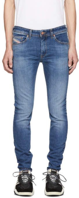cac5963f Diesel Blue Sticker Denim Jeans | Products | Denim jeans, Jeans, Denim