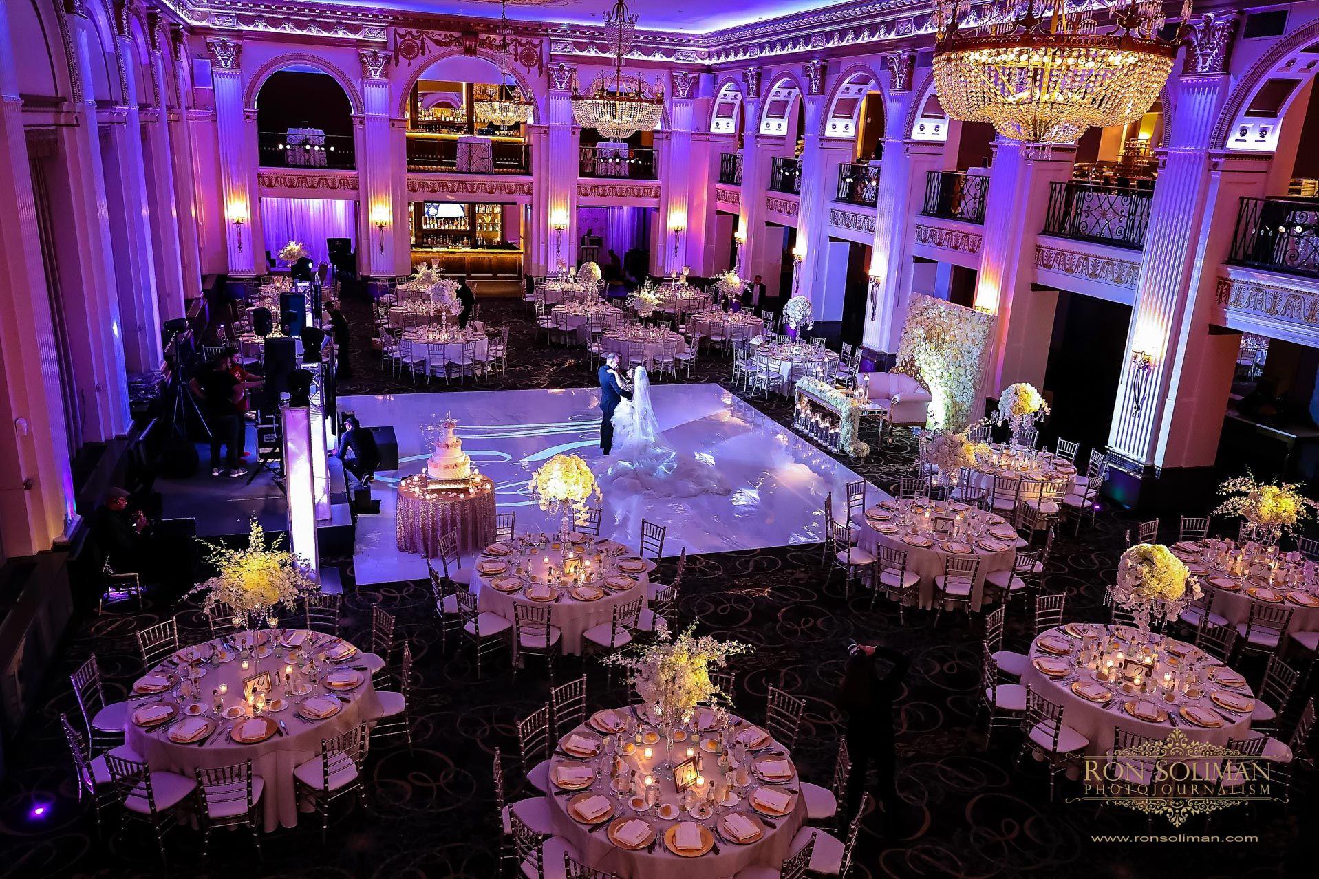 Dazzling Wedding Reception Uplight At Ballroom At The Ben As Documented By Wedding Table Decorations Diy Wedding Photographers Destination Wedding Photographer