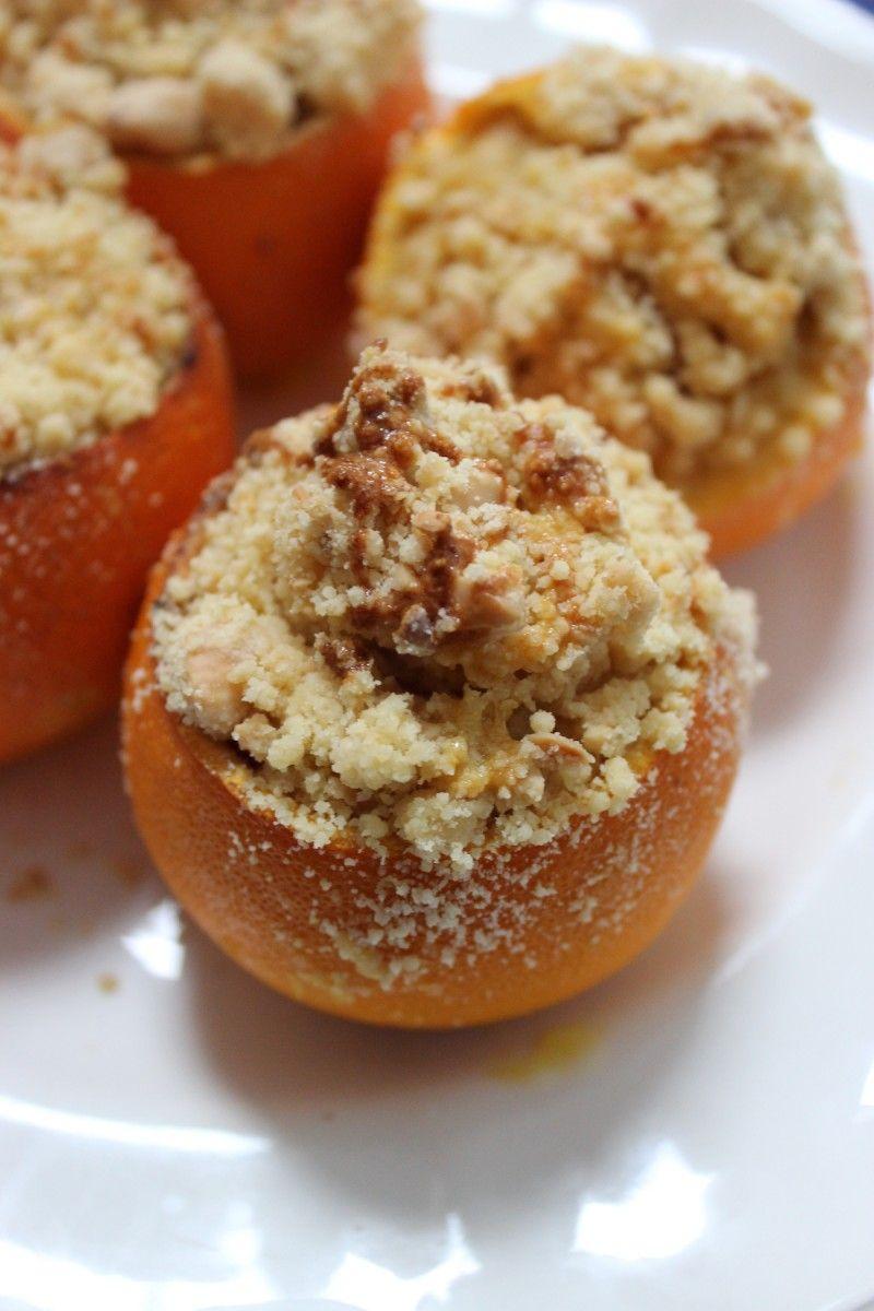 Glutenvrije sinaasappelcrumble