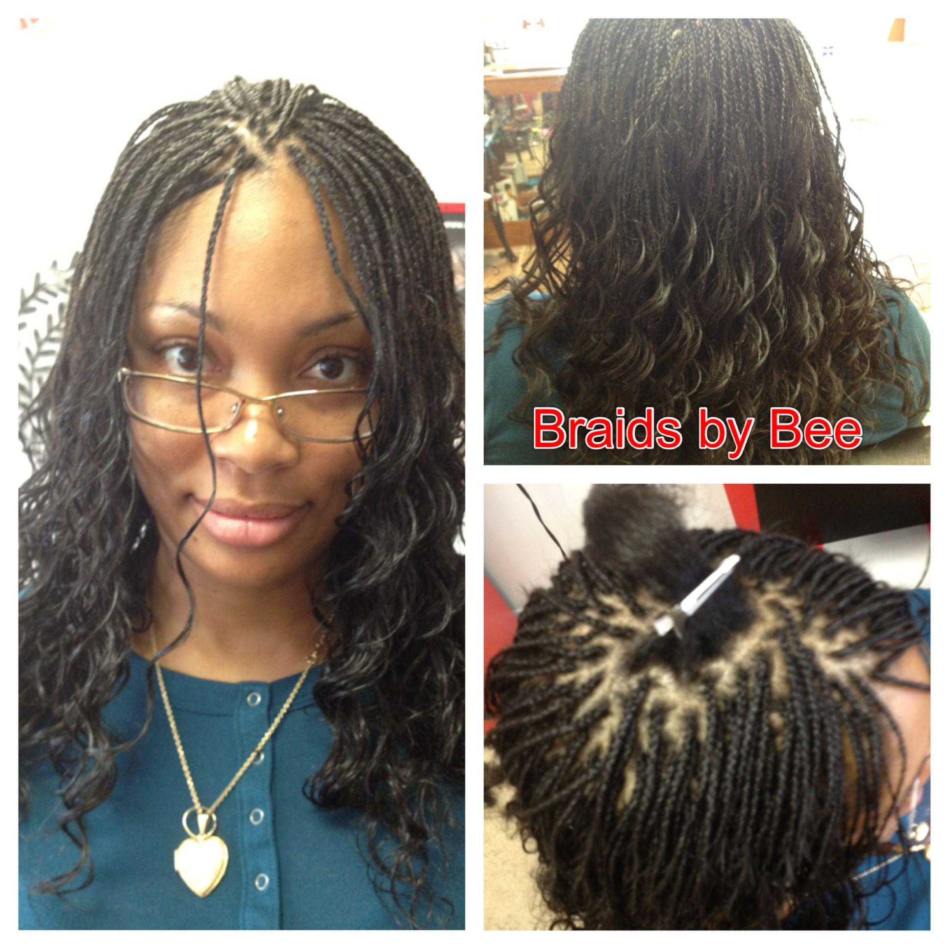 micro braid @jolofhairsalon | yelp | cute braided hairstyles
