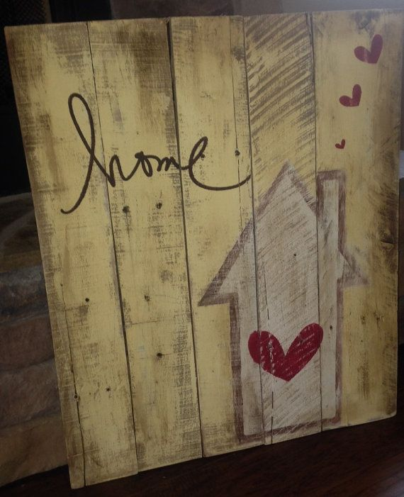 0531a0a64 Pin by Crafty Becky on Projects to Try | Wooden signs, Pallet Crafts ...