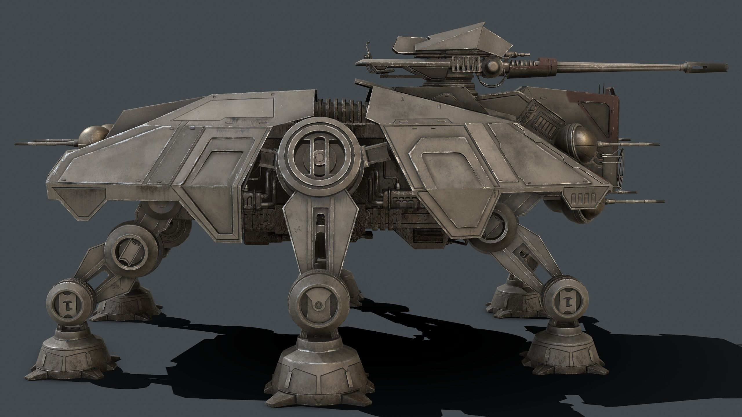 Star Wars At Te 3d Model Star Wars Spaceships Star Wars Ships Star Wars Images