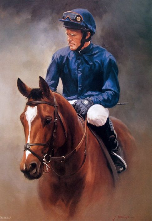 Galileo Limited Edition Horse Racing Print by Equestrian Artist Jacqueline Stanhope