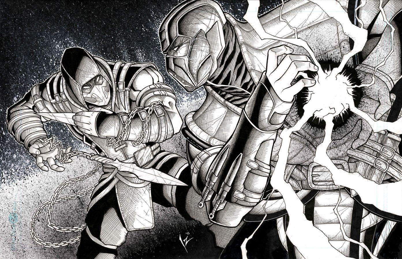 MKX Scorpion vs Sub Zero, Izik Bell on ArtStation at https