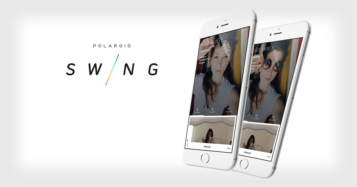Polaroid Swing An App for Snapping and Sharing Moving