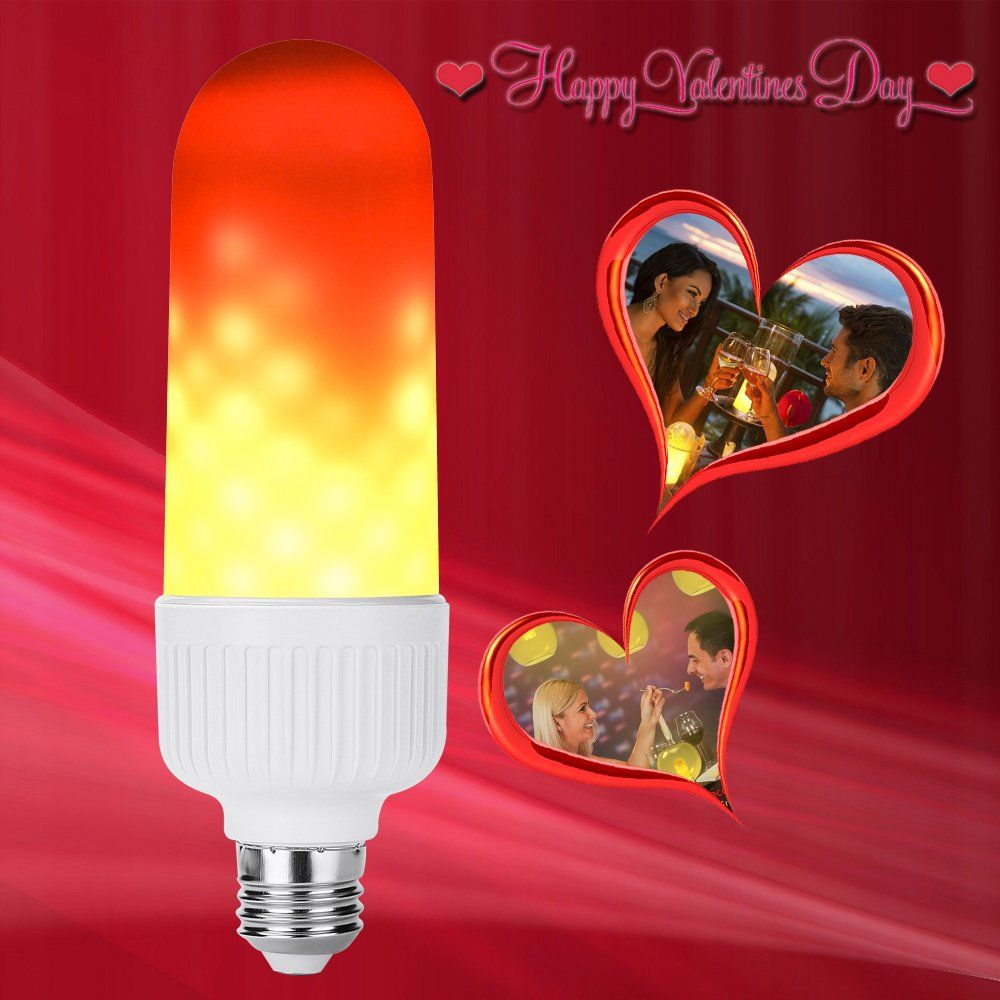 Flame Led Lamp E27 Led Flame Bulbs Creative With E27 3w Flame Effect Fire Light