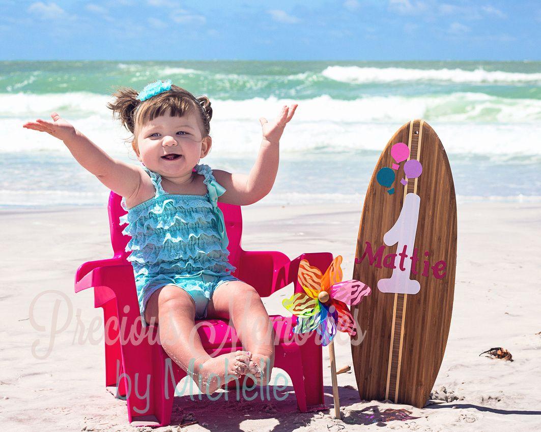 Mattie Turns One Birthday Photoshoot Birthday Photos Beach Baby