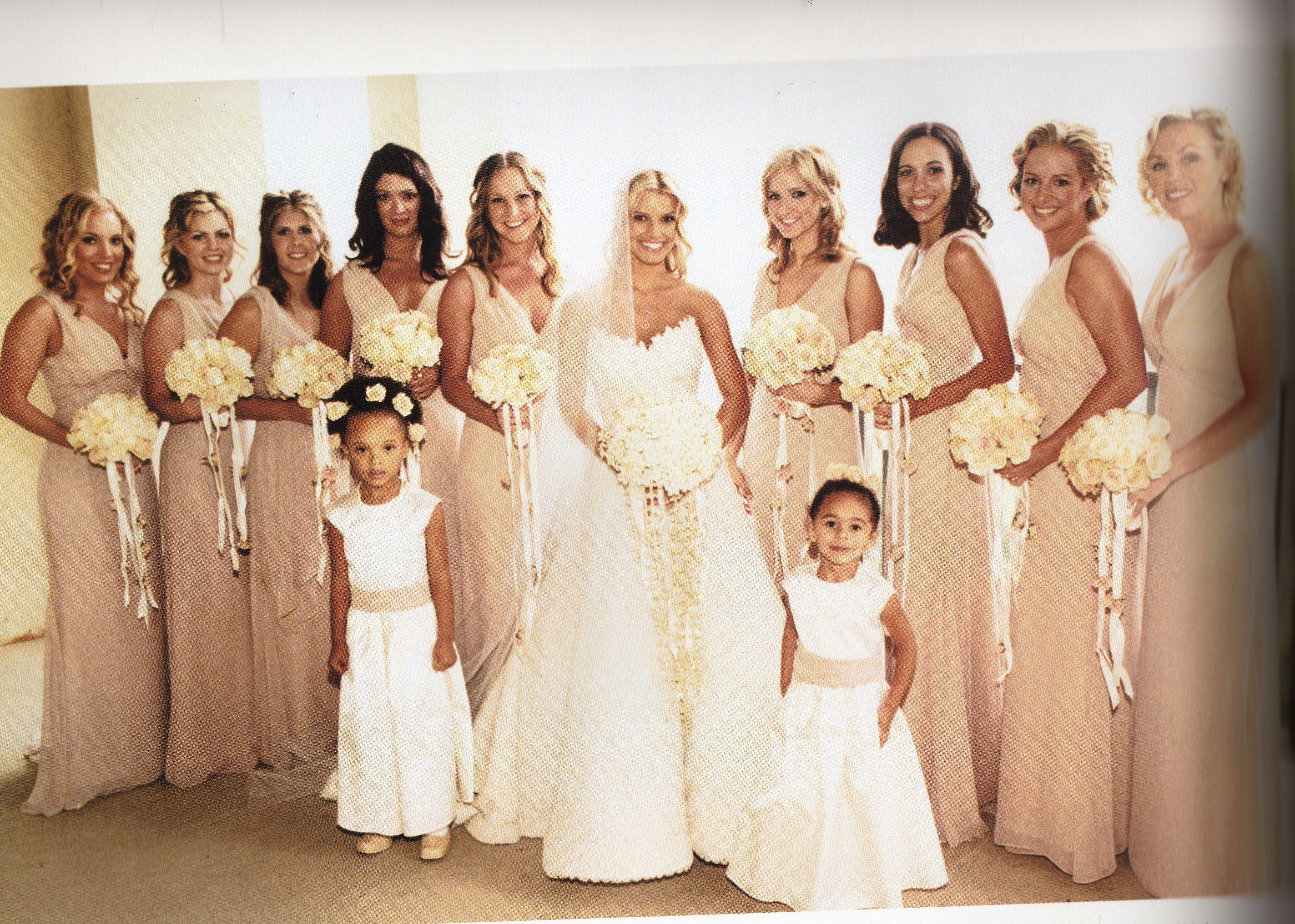 Jessica simpson wedding dress  Champagne bridesmaid dresses  One dayuc  Pinterest  Wedding