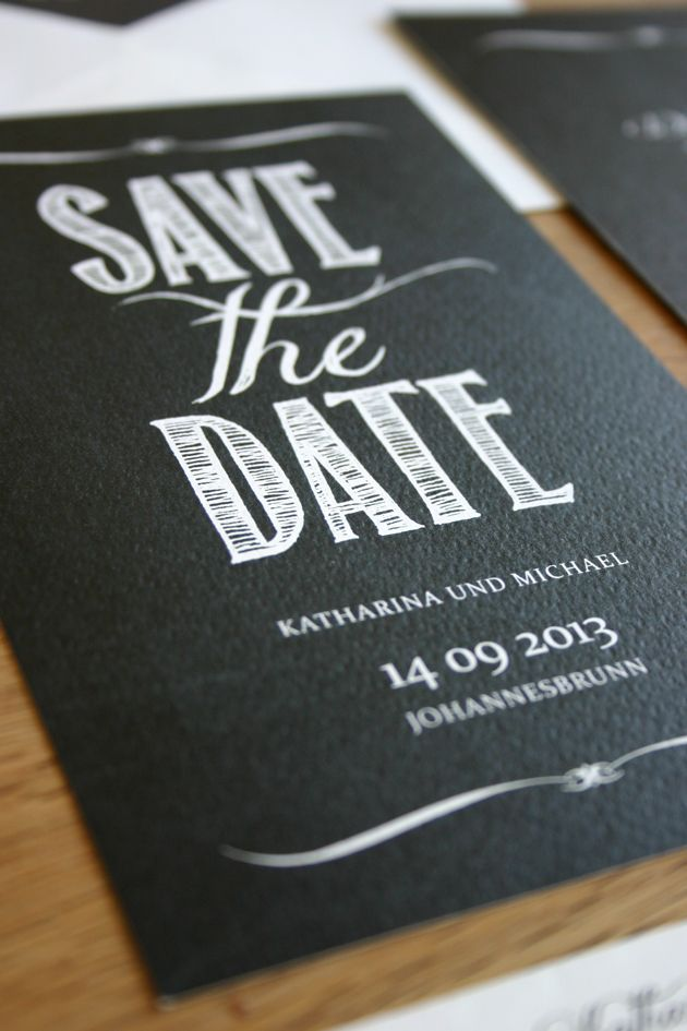 save the date karten chalkboard chalkboard hochzeitspapeterie einladungen einladungskarten. Black Bedroom Furniture Sets. Home Design Ideas