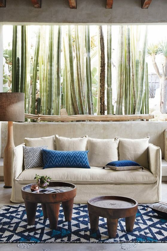 The giant window + cactus garden LOVE.
