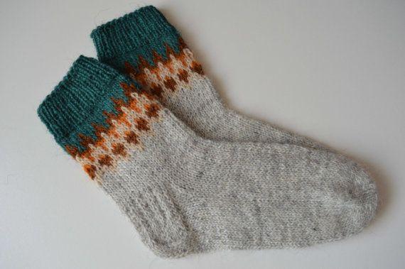 Hand-knitted socks - size 44/45 Yz8qoMK8Ol