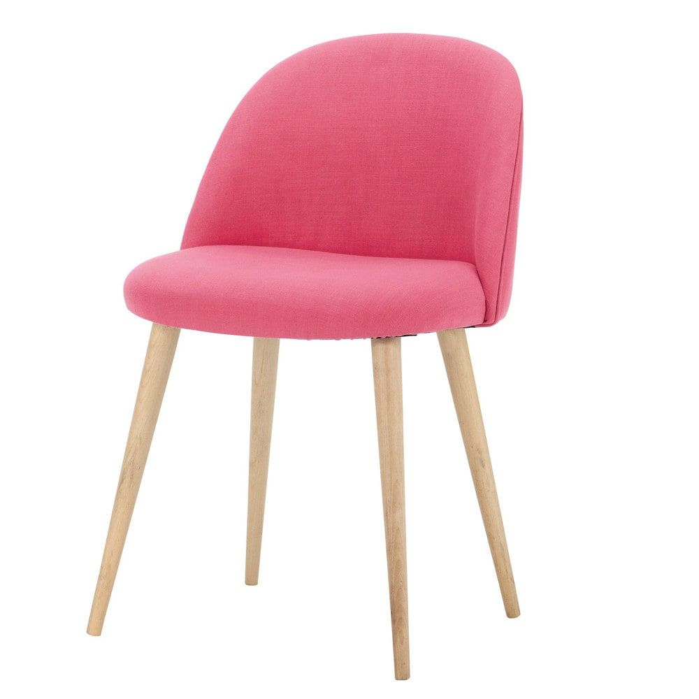Bouleau Fuchsia Vintage Chaise Et MassifChambre N8On0PwkX