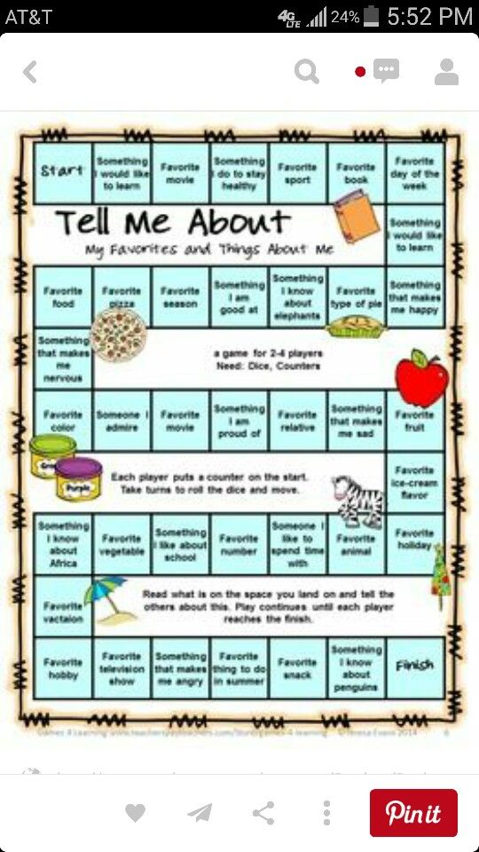 About me game | Social skills | School, School games ...