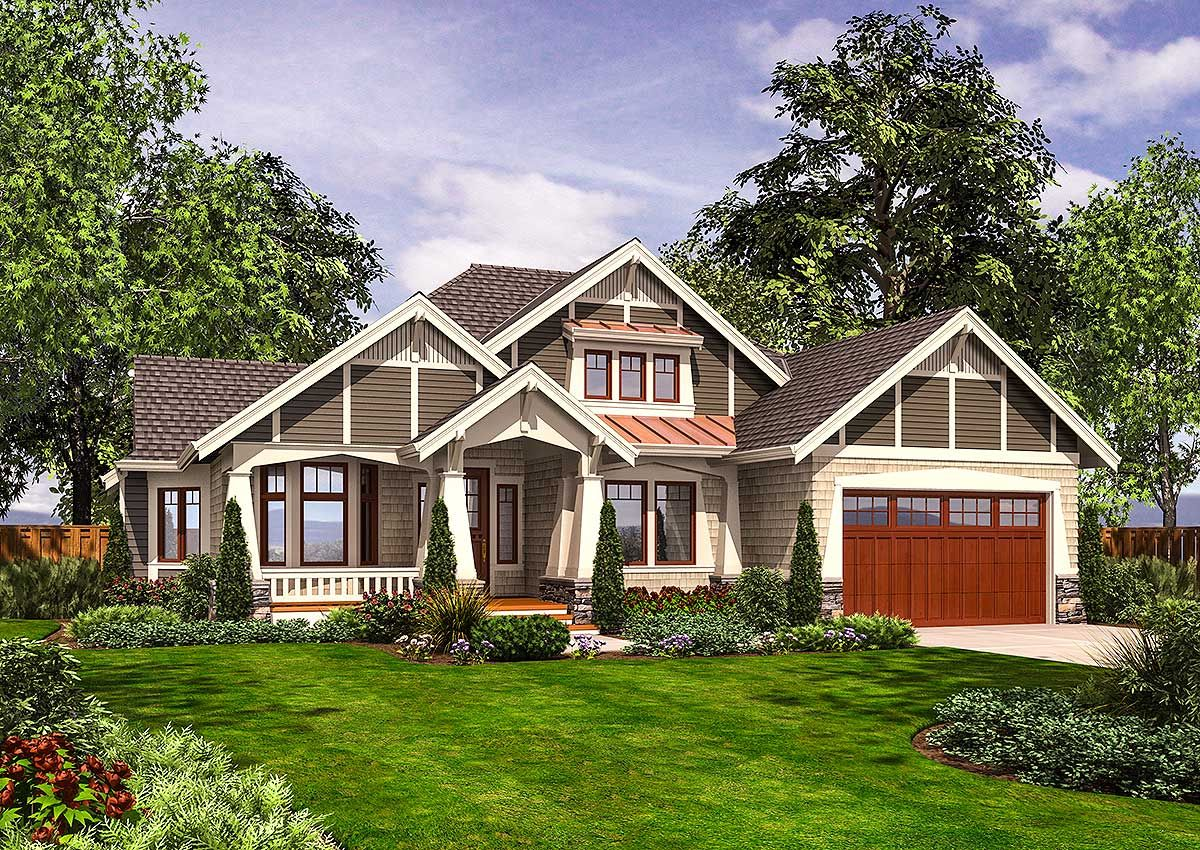 Rambler With Outdoor Living Room Craftsman Style House Plans Rambler House Plans House Plans