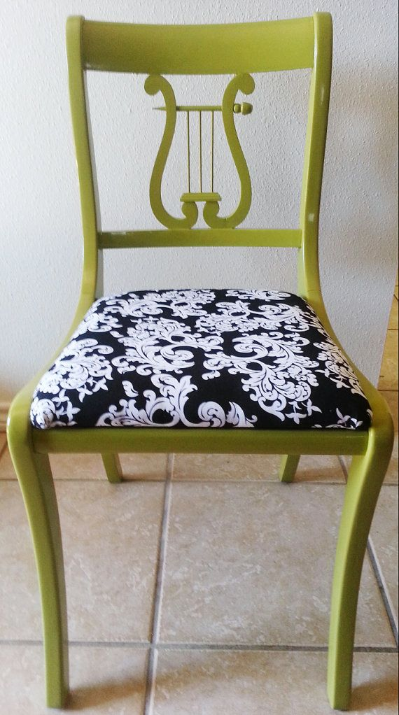 Terrific Vintage Accent Chair With Harp Back Green 16B Accent Ncnpc Chair Design For Home Ncnpcorg