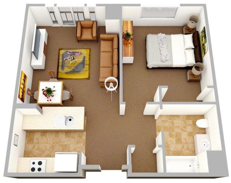 Modelo de departamento cuadrado casa pinterest for Modelos de departamentos pequenos