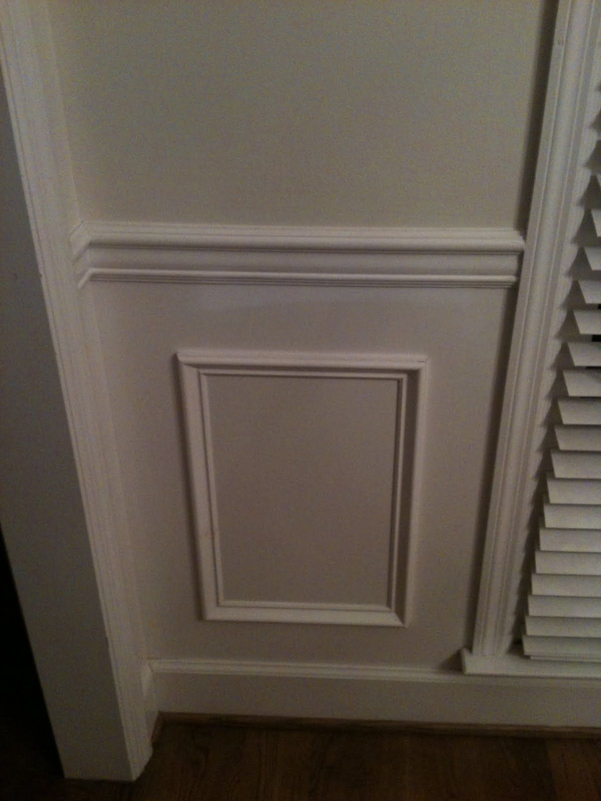 molding under chair rail Home redecorating