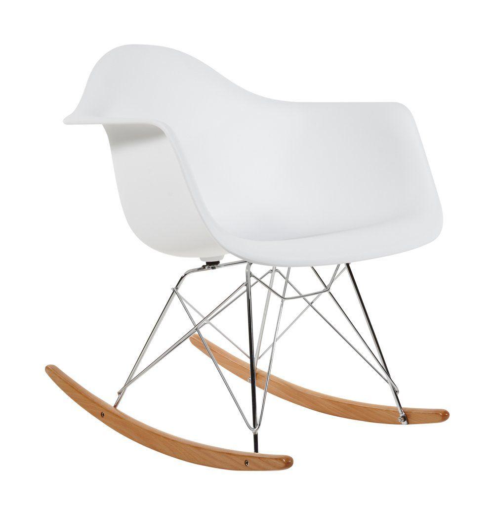charles eames rar plastic rocking chair white amazon co uk