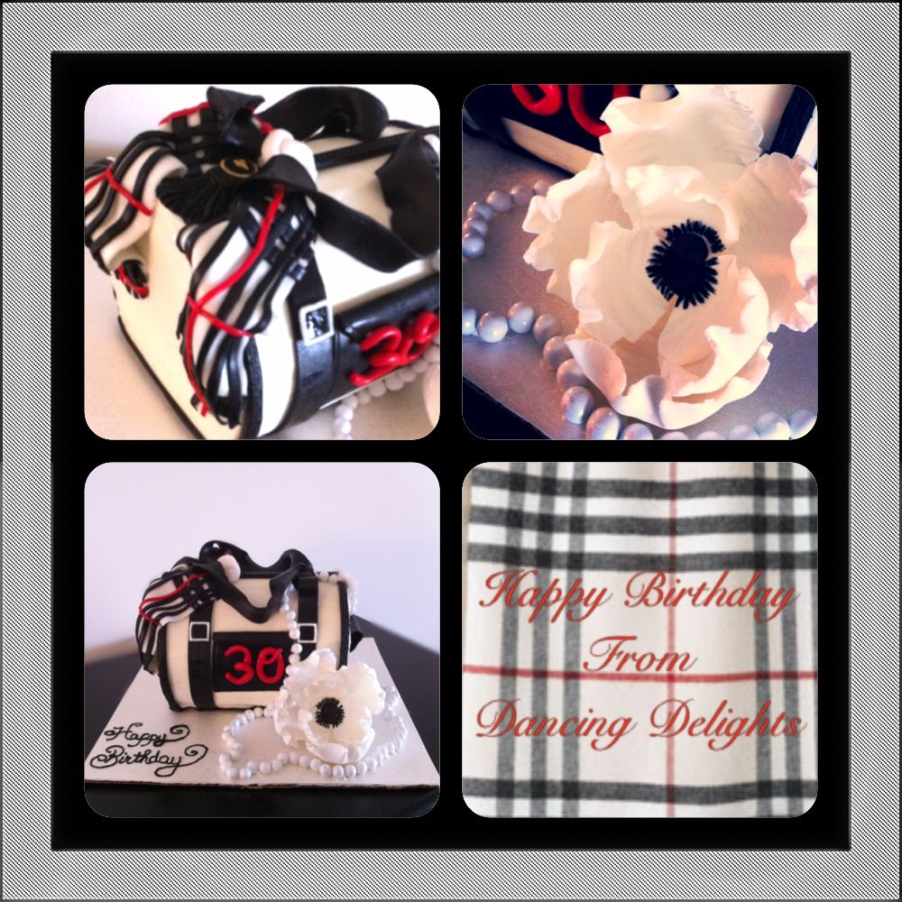 This Personalized Ralph Lauren Handbag Cake With A Burberry Scarf And Pearl  Necklace , Is This